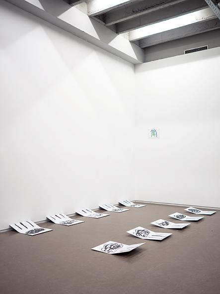Mimi Kunz, Puddles, 2018 installation view