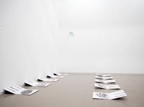 Puddles, 2018 installation carte de visite