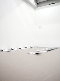 Puddles, 2018 installation view carte de visite
